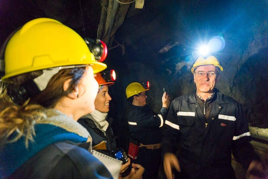 Guided tour of a gold mine at La Cité de l'Or, a Quebec must-see