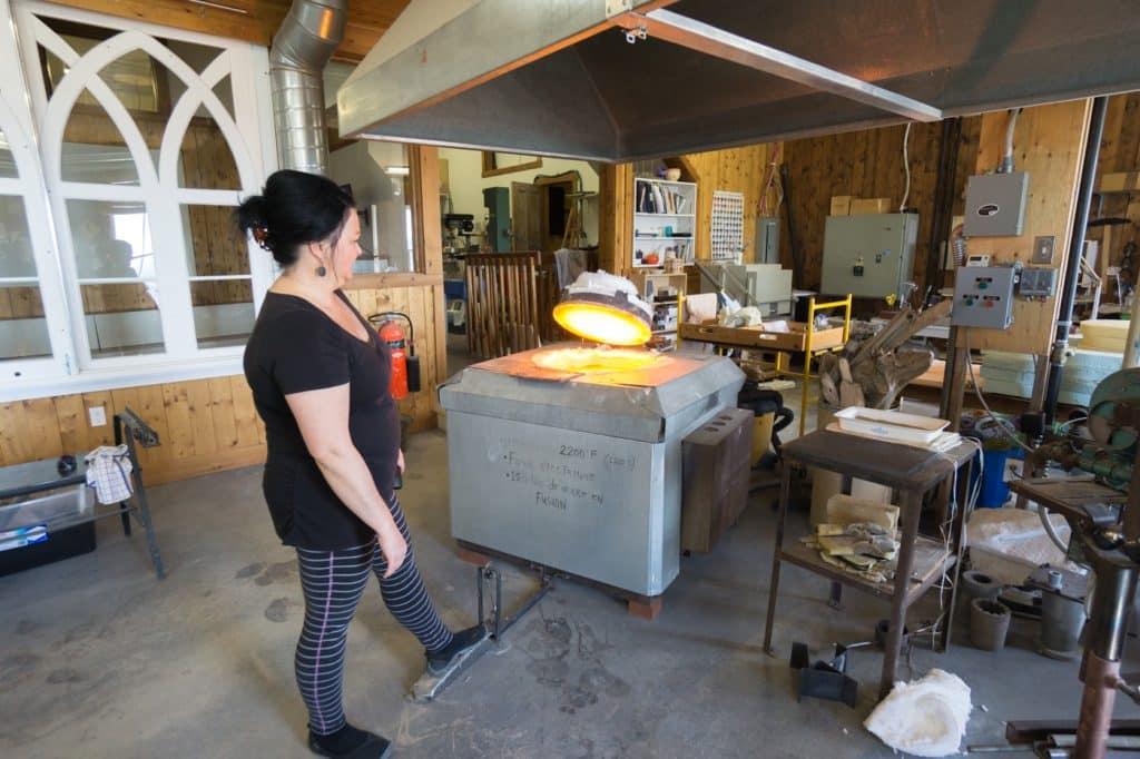 Glass blowing workshop at Verrerie La Méduse