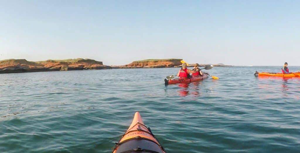 kayaking in Parc de Gros-Cap - Must try activity to do in the Magdalen Islands