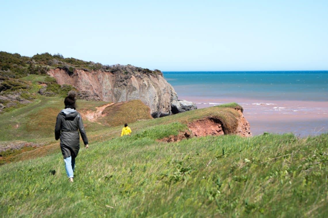 walking and hiking île Boudreau in Grande-Entrée