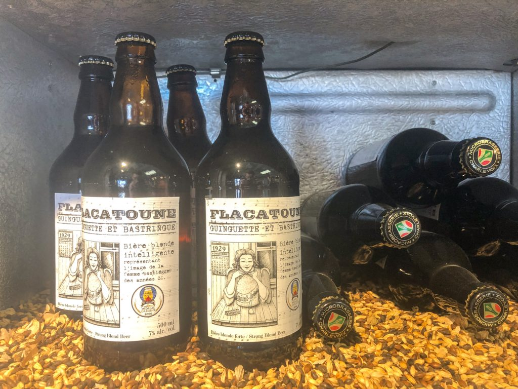 La Flacatoune Beer at Microbrasserie Charlevoix