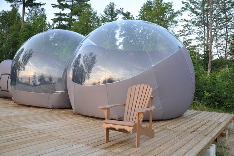 Spend the Night in a Bubble at Windigo Village