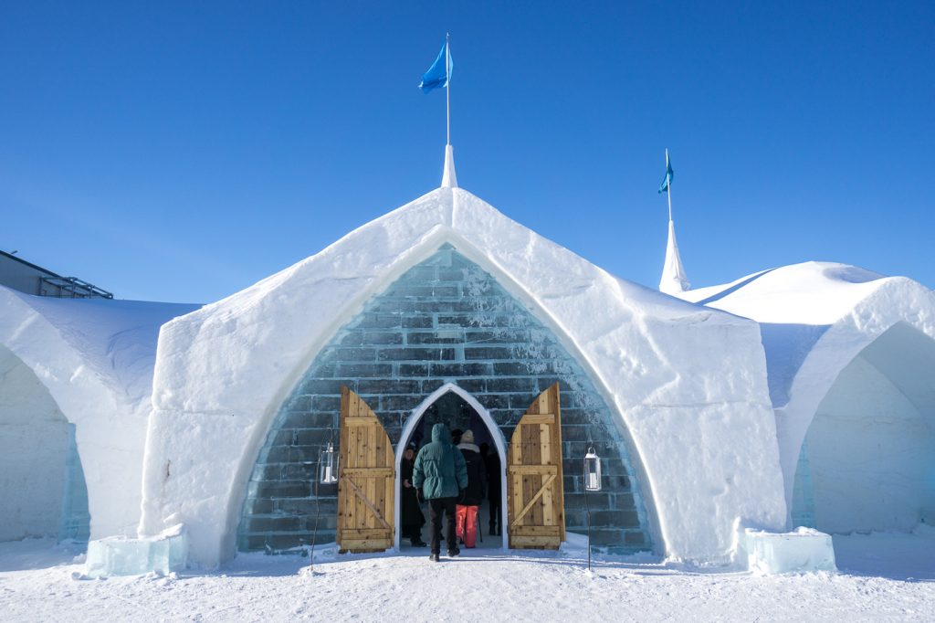 What to do in winter in Quebec: Ice Hotel!