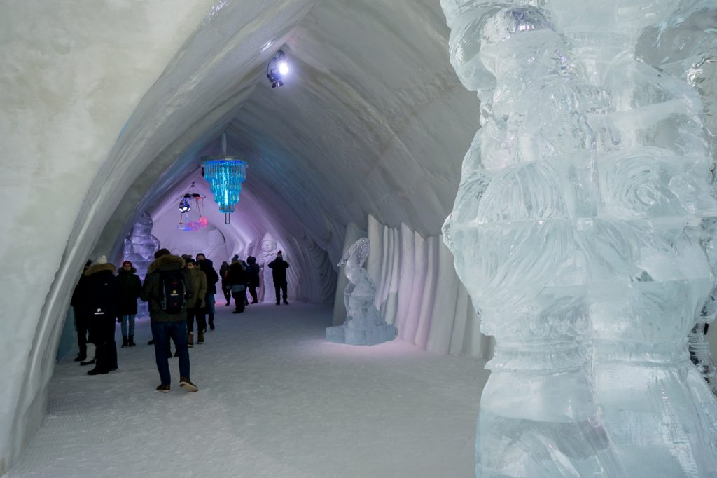 Ice hotel carvings